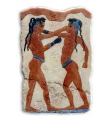 Fresco Púgiles Cretenses