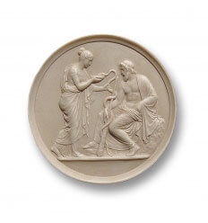 Medallón Salus y Esculapio